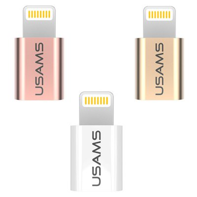 USAMS Micro USB to 8 Pin Data Sync Charge Adapter
