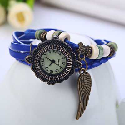 Vintage Ladies Woven Bracelet Quartz WatchWomens Watches<br>Vintage Ladies Woven Bracelet Quartz Watch<br><br>Watches categories: Female table<br>Style: Bracelet<br>Movement type: Quartz watch<br>Shape of the dial: Round<br>Display type: Analog<br>Case material: Alloy<br>Band material: Leather<br>Clasp type: Buckle<br>The dial thickness: 0.6 cm / 0.24 inches<br>The dial diameter: 2.7 cm / 1.06 inches<br>The band width: 1.5 cm / 0.59 inches<br>Product weight: 0.018KG<br>Package weight: 0.078 KG<br>Product size (L x W x H): 21.000 x 2.700 x 0.600 cm / 8.268 x 1.063 x 0.236 inches<br>Package size (L x W x H): 22.000 x 3.700 x 1.600 cm / 8.661 x 1.457 x 0.63 inches<br>Package Contents: 1 x Vintage Ladies Bracelet Quartz Watch