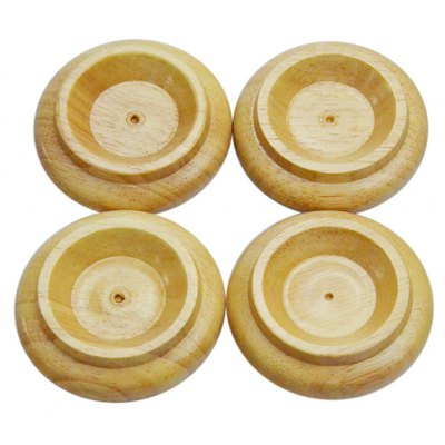 4 x Wooden Caster Cup Set Fitting for Upright Piano Wheel