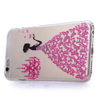 Stylish Pattern Diamond-encrusted Protective Case for iPhone 6 / 6S