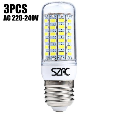3 x SZFC 6W E27 SMD 5730 560LM LED Corn Light