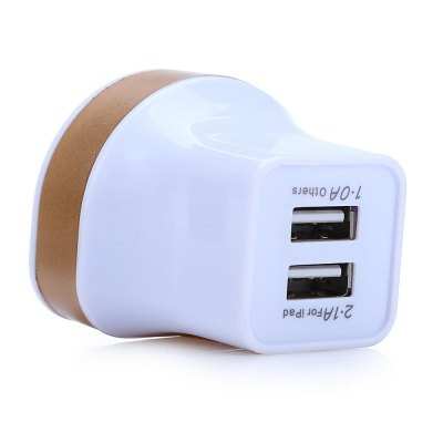 Z03 Portable Dual USB Port Power Adapter US Plug Wall ChargeriPhone Cables &amp; Adapters<br>Z03 Portable Dual USB Port Power Adapter US Plug Wall Charger<br><br>Compatibility: Universal<br>Type: Adapters<br>Plug: US plug<br>Input: 100 - 240V 50 / 60Hz 0.5A<br>Output: 5V 1A / 2.1A<br>Product weight: 0.035 kg<br>Package weight: 0.086 kg<br>Product size (L x W x H): 6.000 x 4.100 x 4.100 cm / 2.362 x 1.614 x 1.614 inches<br>Package size (L x W x H): 15.000 x 6.200 x 4.100 cm / 5.906 x 2.441 x 1.614 inches<br>Package Contents: 1 x Power Adapter