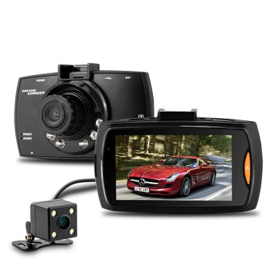 Dome G30B 2.7 inch H.264 1080P Full HD Dual Lens Car DVR 140 Degree Wide Angle Lens Dash Camera Video Recorder with Rear View Camera Motion Detection G-sensor with Charger 2 7 car dvr dual camera full hd 1080p allwinner car camera recorder front 140 rear 120 degree night vision hdmi g30b