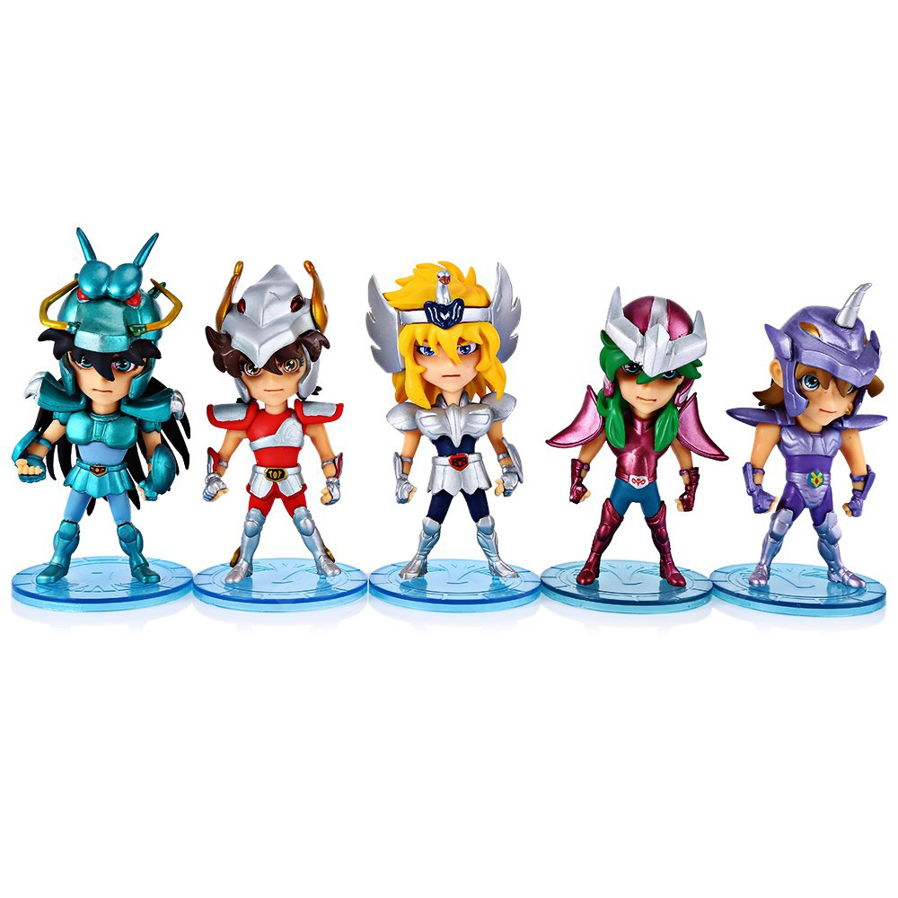 Classic Animation Saint Seiya Characteristic Figure Model Figurine 5Pcs / Set 166462201