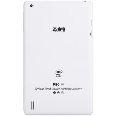 Teclast P80 3G PhabletTablet PCs<br>Teclast P80 3G Phablet<br><br>Brand: Teclast<br>OS: Android 5.1<br>CPU Brand: Intel<br>CPU: Intel X3-C3230<br>GPU: Mali-400 MP<br>Core: 1.2GHz,Quad Core<br>RAM: 1GB<br>ROM: 8GB<br>External Memory: TF card up to 64GB (not included)<br>Support Network: 2G,Built-in 3G,WiFi<br>WIFI: 802.11b/g/n wireless internet<br>Network type: GSM+WCDMA<br>Frequency: GSM 850/900/1800/1900MHz WCDMA 2100MHz<br>3G: Built in 3G (WCDMA)<br>Bluetooth: Yes<br>Screen type: Capacitive,IPS<br>Screen size: 8 inch<br>Screen resolution: 1280 x 800 (WXGA)<br>Camera type: Dual cameras (one front one back)<br>Back camera: 2.0MP<br>Front camera: 0.3MP<br>SIM Card Slot: 1 x Micro SIM Card Slot)<br>TF card slot: Yes<br>USB Slot: Yes (1 x USB 2.0)<br>3.5mm Headphone Jack: Yes<br>Battery / Run Time (up to): 3 hours video playing time<br>AC adapter: 100-240V 5V 2A<br>G-sensor: Supported<br>Skype: Supported<br>Youtube: Supported<br>Speaker: Supported<br>MIC: Supported<br>Picture format: BMP,GIF,JPEG,JPG<br>Music format: AAC,MP3,WMA<br>Video format: 3GP,AVI,MP4<br>Pre-installed Language: Android OS supports multi-language<br>Additional Features: 3G,Bluetooth,Browser,Calendar,E-book,GPS,Gravity Sensing System,MP3,MP4,Wi-Fi<br>Product size: 20.80 x 12.50 x 0.95 cm / 8.19 x 4.92 x 0.37 inches<br>Package size: 23.10 x 18.90 x 3.20 cm / 9.09 x 7.44 x 1.26 inches<br>Product weight: 0.329 kg<br>Package weight: 0.636 kg<br>Tablet PC: 1<br>USB Cable: 1<br>User Manual (Chinese - English): 1