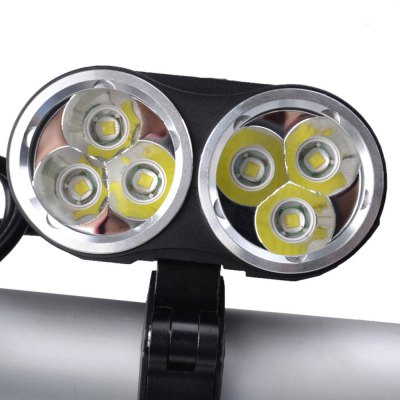 RichFire SF - 663 6 x CREE XML T6 4800Lm LED Bike LightRichFire SF - 663 6 x CREE XML T6 4800Lm LED Bike Light<br><br>Headlight brand: RichFire<br>Model: SF-663<br>Function: Camping,Hiking,Walking,Night Riding,Household Use,EDC<br>Feature: Can be used as headlamp or bicycle light,Cooling Slot of High Efficiency<br>Luminous Flux: 4800LM<br>Color Temperature: 7000-8000K<br>Main Lamp Beads: XM-L T6<br>Beads Number: 6<br>Mode: 3 (High; Mid; SOS)<br>Switch Type: Clicky<br>Power Source: Battery<br>Working Voltage: 8.4V<br>Reflector: Aluminum Smooth Reflector<br>Lens: Glass Lens<br>Beam Distance: 200m<br>Working Time: 4.5h<br>Available Light Color: Cool White<br>Color: Black<br>Body Material: Aluminium Alloy<br>Product weight: 0.189 kg<br>Package weight: 0.707 kg<br>Product size (L x W x H): 6.700 x 4.000 x 5.500 cm / 2.638 x 1.575 x 2.165 inches<br>Package size (L x W x H): 22.000 x 17.800 x 7.100 cm / 8.661 x 7.008 x 2.795 inches<br>Package Contents: 1 x RichFire SF-663 LED Bike Light, 1 x US Plug Charger, 2 x Rubber Mat, 1 x 18650 Battery Pack