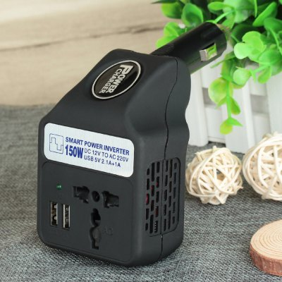 4150PC DC 12V to AC 110V 150W Smart Car Power Inverter