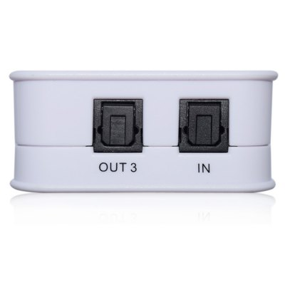 1 Input 3 Output Amplifier Multiplier BoxCables &amp; Connectors<br>1 Input 3 Output Amplifier Multiplier Box<br><br>Type: Splitter<br>Material: Plastic<br>Interface: Toslink<br>Certificate: RoHs,CE,FCC<br>Available color: Black,White<br>Product weight: 0.045 kg<br>Package weight: 0.195 kg<br>Product size (L x W x H): 5.400 x 5.400 x 2.400 cm / 2.126 x 2.126 x 0.945 inches<br>Package size (L x W x H): 12.000 x 10.500 x 6.500 cm / 4.724 x 4.134 x 2.559 inches<br>Package Contents: 1 x Newkeng SPDIF Toslink Digital Optical Audio 1 x 3 Splitter, 1 x Power Adapter, 1 x English Manual