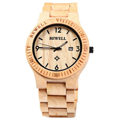 Bewell ZS - W086B Men Quartz Watch Wooden Band Date DisplayMens Watches<br>Bewell ZS - W086B Men Quartz Watch Wooden Band Date Display<br><br>Brand: Bewell<br>Watches categories: Male table<br>Watch style: Casual,Fashion<br>Style elements: Sandalwood<br>Movement type: Quartz watch<br>Shape of the dial: Round<br>Display type: Analog<br>Hour formats: 12 Hour<br>Case material: Wood<br>Band material: Wood<br>Clasp type: Folding clasp with safety<br>Special features: Date<br>The dial thickness: 0.9 cm / 0.35 inches<br>The dial diameter: 4.2 cm / 1.65 inches<br>The band width: 2.2 cm / 0.87 inches<br>Product weight: 0.058 kg<br>Package weight: 0.118 kg<br>Product size (L x W x H): 28.000 x 4.500 x 0.900 cm / 11.024 x 1.772 x 0.354 inches<br>Package size (L x W x H): 29.000 x 5.500 x 1.900 cm / 11.417 x 2.165 x 0.748 inches<br>Package Contents: 1 x Bewell ZS - W086B Quartz Men Watch