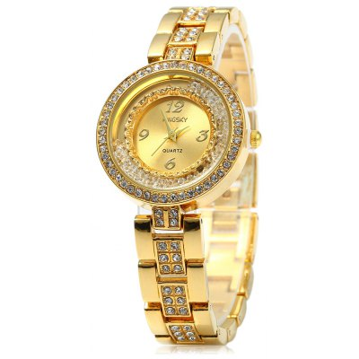 Kingsky 5199 Rolling Rhinestone Women Quartz Watch