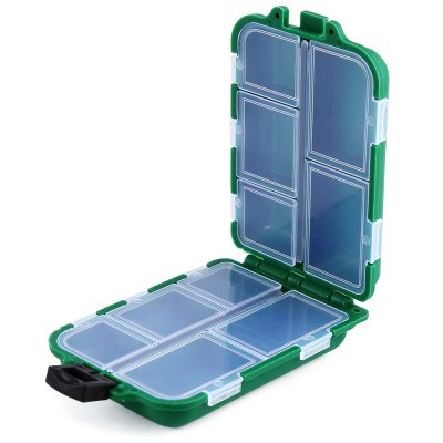 10 Compartments Portable Fishing Tackle Box