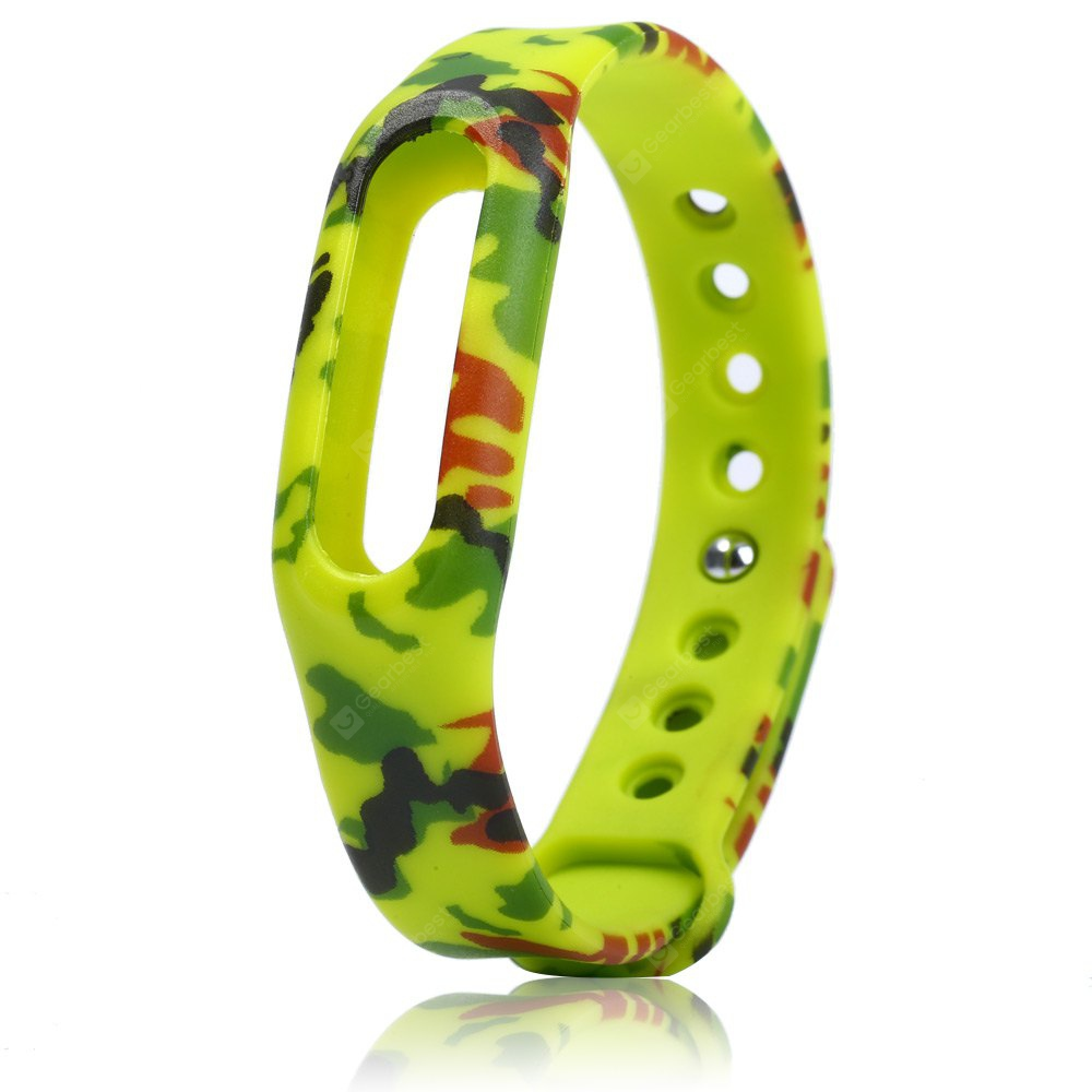Camouflage Design Rubber Band for Xiaomi Miband / 1S