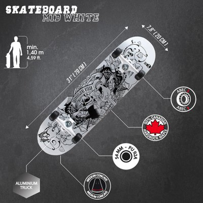 oxelo-four-wheels-skateboard-with-printing-pattern