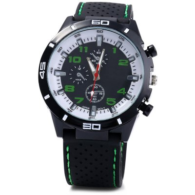 Military Sports Quartz Watch for MenMens Watches<br>Military Sports Quartz Watch for Men<br><br>Movement type: Quartz watch<br>Shape of the dial: Round<br>Display type: Analog<br>Case material: Alloy<br>Band material: Silicone<br>Clasp type: Pin buckle<br>Special features: Decorating small sub-dials<br>The dial thickness: 1 cm /  0.39 inches<br>The dial diameter: 4.2 cm / 1.65 inches<br>The band width: 2.2 cm / 0.87 inches<br>Wearable length: 19 - 23 cm / 7.48 - 9.06 inches<br>Product weight: 0.065 kg<br>Package weight: 0.125 kg<br>Product size (L x W x H): 25.500 x 4.200 x 1.000 cm / 10.039 x 1.654 x 0.394 inches<br>Package size (L x W x H): 26.500 x 5.200 x 2.000 cm / 10.433 x 2.047 x 0.787 inches<br>Package Contents: 1 x Male Silicone Sports Quartz Watch