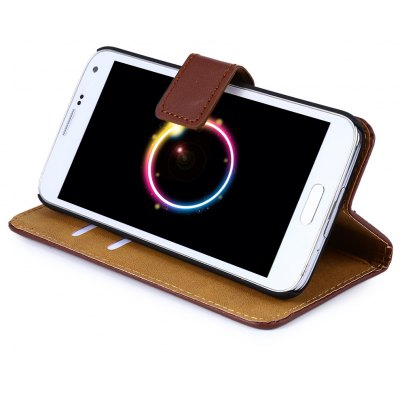 Magnetic Snap Slot Wallet Stand Flip Leather Case Skin for Samsung S4