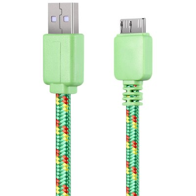 2M Braided Micro Charger Cable