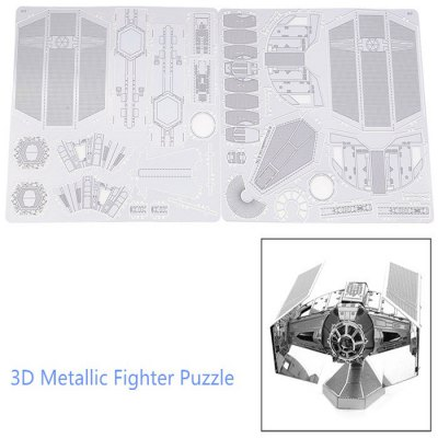 446432 Fighter 3D PuzzleModel &amp; Building Toys<br>446432 Fighter 3D Puzzle<br><br>Type: 3D Puzzle<br>Theme: Movie and TV<br>Materials: Metal<br>Gender: Unisex<br>Style: Geometric Shape<br>Stem From: Europe and America<br>Package weight: 0.053 kg<br>Product size: 6.300 x 5.600 x 5.100 cm / 2.480 x 2.205 x 2.008 inches<br>Package size: 17.000 x 12.000 x 0.200 cm / 6.693 x 4.724 x 0.079 inches<br>Package Contents: 1 x 3D Fighter Puzzle ( 2Pcs/ Set )