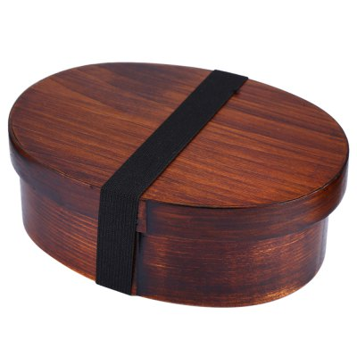 Japanese Style Wooden Lunch-box Tableware Bowl
