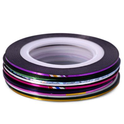 10 Color DIY Nail Art Striping Tape Line Decoration Sticker