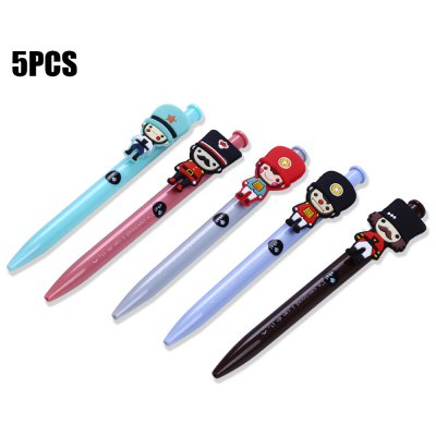 5PCS Cartoon Soldier Head Style Ballpoint Pen от GearBest.com INT