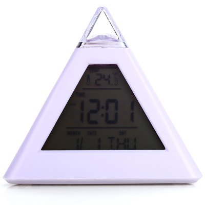 Pyramid Style LED Digital Alarm Clock