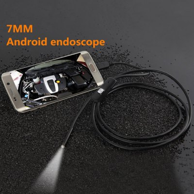 1m Mini Android EndoscopeMicroscopes &amp; Endoscope<br>1m Mini Android Endoscope<br><br>Cable length: 1M<br>Diameter: 7mm<br>LED Qty : 6<br>Optional Color: 1736<br>Package Contents: 1 x Android Endoscope, 1 x CD, 1 x English User Manual<br>Package size (L x W x H): 11.00 x 11.00 x 5.00 cm / 4.33 x 4.33 x 1.97 inches<br>Package weight: 0.1200 kg<br>Power Supply: USB<br>Product size (L x W x H): 105.00 x 0.07 x 0.07 cm / 41.34 x 0.03 x 0.03 inches<br>Product weight: 0.0210 kg