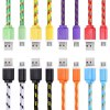 1M Micro USB Flat Braided Charger Cable for sale
