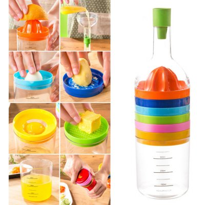 8 - in - 1 Kitchen Tool Funnel + Lemon Squeezer + Egg Masher + Cheese Grater + Cap Opener