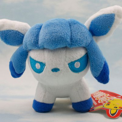 XING TING Animation 5 inch Pokemon Q Version Glaceon Feature Plush Toy Home Office Decor