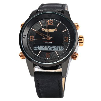 JULIUS 082 Dual Movt Men Quartz Watch LED WristwatchMens Watches<br>JULIUS 082 Dual Movt Men Quartz Watch LED Wristwatch<br><br>Brand: Julius<br>Watches categories: Male table<br>Watch style: Business,LED<br>Available color: Brown,Silver,Black<br>Movement type: Quartz watch<br>Shape of the dial: Round<br>Display type: Analog<br>Case material: Stainless Steel<br>Band material: Leather<br>Clasp type: Pin buckle<br>The dial thickness: 1.3 cm / 0.51 inches<br>The dial diameter: 4.2 cm / 1.65 inches<br>The band width: 1.8 cm / 0.71 inches<br>Wearable length: 16.5 - 20.5 cm / 6.5 - 8.07 inches<br>Product weight: 0.076 kg<br>Package weight: 0.106 kg<br>Product size (L x W x H): 24.500 x 4.200 x 1.300 cm / 9.646 x 1.654 x 0.512 inches<br>Package size (L x W x H): 25.500 x 5.200 x 2.300 cm / 10.039 x 2.047 x 0.906 inches<br>Package Contents: 1 X JULIUS 082 Watch
