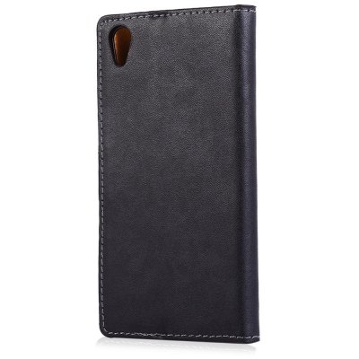Magnetic Snap Slot Wallet Stand Flip Leather Case Skin for Sony Xperia  Z5