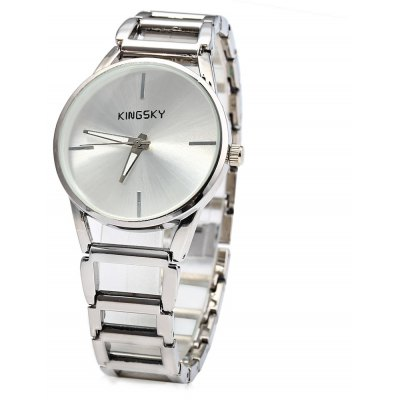 KINGSKY Simple Dial Quartz Chain Watch for Women