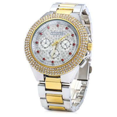 KINGSKY Luxury Diamond Quartz Watch Women Bracelet
