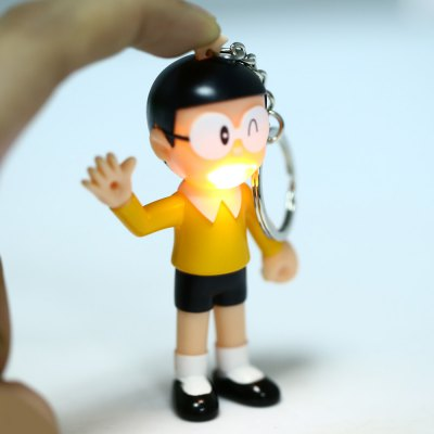Nobita Style Key RingHome Gadgets<br>Nobita Style Key Ring<br><br>Type: Key Chain<br>Feature: Voice and Light Control<br>Material: Electronic Components<br>Product weight: 0.017 kg<br>Package weight: 0.040 kg<br>Product size (L x W x H): 8.000 x 6.000 x 4.000 cm / 3.150 x 2.362 x 1.575 inches<br>Package size (L x W x H): 9.000 x 7.000 x 5.000 cm / 3.543 x 2.756 x 1.969 inches<br>Package Contents: 1 x Key Chain