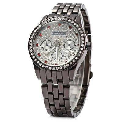 KINGSKY Luxury Diamond Quartz Watch for Women