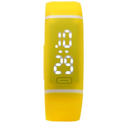 Candy Color LED Sports Watch with Date Display Rubber BandLED Watches<br>Candy Color LED Sports Watch with Date Display Rubber Band<br><br>People: Male table<br>Watch style: Fashion&amp;Casual,Outdoor Sports,LED<br>Available color: Deep Blue,Red,Blue,Green,Purple,Orange,Yellow,Plum,Light Green,Pink,Black,White<br>Shape of the dial: Rectangle<br>Movement type: Digital watch<br>Display type: Digital<br>Case material: Rubber<br>Band material: Rubber<br>Clasp type: Magnetic Clasp<br>Special features: Date<br>The dial thickness: 0.8 cm / 0.31 inches<br>The dial diameter: 2.3 cm / 0.9 inches<br>The band width: 1.8 cm / 0.71inches<br>Product weight: 0.028 kg<br>Package weight: 0.058 kg<br>Product size (L x W x H): 22.500 x 2.300 x 0.800 cm / 8.858 x 0.906 x 0.315 inches<br>Package size (L x W x H): 23.500 x 3.300 x 1.800 cm / 9.252 x 1.299 x 0.709 inches<br>Package Contents: 1 x LED Watch