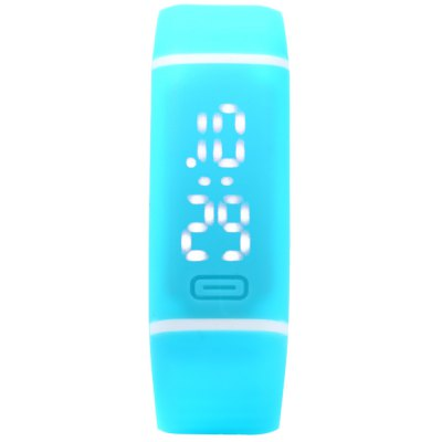 Candy Color LED Sports Watch with Date Display Rubber Band