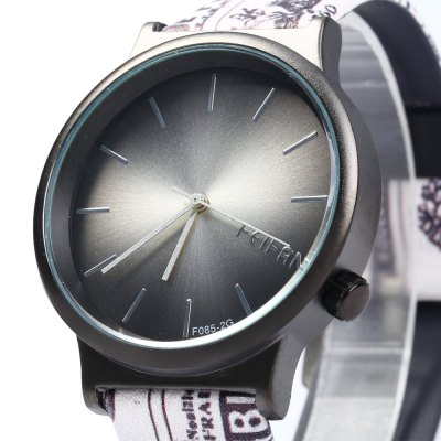Feifan 62085G Women Quartz Watch with Unique Leather BandWomens Watches<br>Feifan 62085G Women Quartz Watch with Unique Leather Band<br><br>Brand: FEIFAN<br>Watches categories: Female table<br>Available color: Red,Blue,Green,Purple,Deep Red,Black<br>Style: Retro<br>Movement type: Quartz watch<br>Shape of the dial: Round<br>Display type: Analog<br>Case material: Stainless Steel<br>Band material: Leather<br>Clasp type: Pin buckle<br>The dial thickness: 0.7 cm / 0.28 inches<br>The dial diameter: 4 cm / 1.58 inches<br>Product weight: 0.047 kg<br>Package weight: 0.077 kg<br>Product size (L x W x H): 24.500 x 4.000 x 0.700 cm / 9.646 x 1.575 x 0.276 inches<br>Package size (L x W x H): 25.500 x 5.000 x 1.700 cm / 10.039 x 1.969 x 0.669 inches<br>Package Contents: 1 x Women Quartz Watch