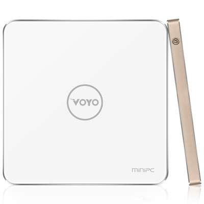 VOYO V3 Mini PCTV Box &amp; Mini PC<br>VOYO V3 Mini PC<br><br>Brand: Voyo<br>Model: V3<br>Type: Mini PC<br>GPU: Gen 8 Graphics<br>System: Windows 10<br>CPU: Intel Cherry Trail X7-Z8700<br>Core: Quad Core<br>RAM: 4G<br>RAM Type: DDR3<br>ROM: 128G<br>Max. Extended Capacity: 128G<br>Maximum External Hard Drives Capacity: 128GB<br>Color: White<br>Decoder Format: H.264<br>Video format: 3GP,AVI,MOV,MP4<br>Audio format: AAC,APE,FLAC,M4A,MP3,OGG,WAV<br>Photo Format: BMP,GIF,JPEG,JPG,PNG<br>Support 5.1 Surround Sound Output: No<br>Support 5G WiFi: No<br>Bluetooth: Bluetooth4.0<br>Power Supply: Charge Adapter<br>Interface: 3.5mm Audio,HDMI,TF card,Type-C,USB2.0,USB3.0<br>Language: English<br>DVD Support: No<br>HDMI Version: 1.2<br>Other Functions: Others<br>External Subtitle Supported: No<br>HDMI Function: CEC<br>Power Comsumption: NO<br>RJ45 Port Speed: No<br>System Bit: 64Bit<br>WiFi Chip: 802.11<br>KODI Pre-installed: No<br>KODI Version: NO<br>Power Type: External Power Adapter Mode<br>Remote Controller Battery: No<br>Product weight: 0.200 kg<br>Package weight: 0.570 kg<br>Product size (L x W x H): 13.00 x 13.00 x 0.99 cm / 5.12 x 5.12 x 0.39 inches<br>Package size (L x W x H): 15.00 x 15.00 x 2.00 cm / 5.91 x 5.91 x 0.79 inches<br>Package Contents: 1 x VOYO V3 Mini PC, 1 x HDMI Cable, 1 x Power Adapter, 1 x English Manual