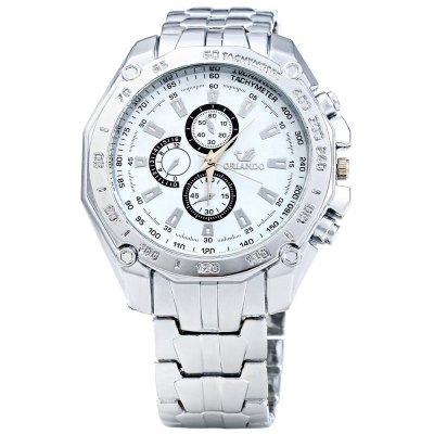 ORLANDO 410 Decorative Sub-dials Men Quartz WatchMens Watches<br>ORLANDO 410 Decorative Sub-dials Men Quartz Watch<br><br>Brand: Orlando<br>Watches categories: Male table<br>Watch style: Fashion<br>Available Color: Blue,Black,White<br>Movement type: Quartz watch<br>Shape of the dial: Round<br>Display type: Analog<br>Case material: Stainless Steel<br>Band material: Stainless Steel<br>Clasp type: Folding clasp with safety<br>Special features: Decorating small sub-dials<br>The dial thickness: 0.8 cm / 0.31 inches<br>The dial diameter: 4.5 cm / 1.77 inches<br>The band width: 1.8 cm / 0.71 inches<br>Product weight: 0.090 kg<br>Package weight: 0.120 kg<br>Product size (L x W x H): 20.000 x 4.500 x 0.800 cm / 7.874 x 1.772 x 0.315 inches<br>Package size (L x W x H): 21.000 x 5.500 x 1.800 cm / 8.268 x 2.165 x 0.709 inches<br>Package Contents: 1 x ORLANDO 410 Watch