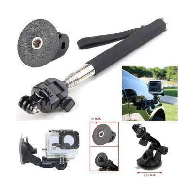 13PCS Universal Action Camera Accessory KitAction Cameras &amp; Sport DV Accessories<br>13PCS Universal Action Camera Accessory Kit<br><br>Accessory type: Camera Accessories Kit, Camera Accessories Kit<br>Apply to Brand: Foream,Gopro,SJCAM,Mobius,Amkov,Soocoo,Eken,Dazzne,Ordro,Xiaomi,GitUp,FIREFLY<br>Compatible with: Gopro Hero 4, Foream Compass, Soocoo G1, EKEN H9, FIREFLY 6S, SJCAM M10 Plus, SJCAM M10, FIREFLY 5S, Gitup Git2, Soocoo S60, GoPro Hero Series, Gopro Hero 3 Plus, Isaw, Mobius Action Sports Camera, Action Camera, SJ6000, SJ5000, SJ4000, Gopro Hero 1, Gopro Hero 2, Gopro Hero 3, Soocoo C10, W9, Mobius Action Sports Camera, GoPro Hero 4 Session, Isaw, GitUp Git1, Gopro Hero 1, Action Camera, A9, SJ6000, Xiaomi Yi, SJ5000, SJ4000, Dazzne P2, GoPro Hero Series, Dazzne P3, SJCAM 4000 plus, Foream X1, SJ7000, SJCAM 5000 plus<br>Material: Plastic, Nylon, Plastic, Nylon, Metal, Metal<br>Package Contents: 1 x Chest Strap, 1 x Head Strap, 1 x  Suction Cup Bracket, 1 x  Bike Handlebar Holder, 1 x Selfie Stick, 1 x 360 Degree Rotation Wrist Strap, 1 x  Float Handle with Screw and Hang Rope, 2 x J-shaped B, 1 x Chest Strap, 1 x Head Strap, 1 x  Suction Cup Bracket, 1 x  Bike Handlebar Holder, 1 x Selfie Stick, 1 x 360 Degree Rotation Wrist Strap, 1 x  Float Handle with Screw and Hang Rope, 2 x J-shaped B<br>Package size (L x W x H): 28.00 x 23.00 x 10.00 cm / 11.02 x 9.06 x 3.94 inches, 28.00 x 23.00 x 10.00 cm / 11.02 x 9.06 x 3.94 inches<br>Package weight: 0.8300 kg, 0.8300 kg<br>Product size (L x W x H): 25.00 x 20.00 x 7.00 cm / 9.84 x 7.87 x 2.76 inches, 25.00 x 20.00 x 7.00 cm / 9.84 x 7.87 x 2.76 inches