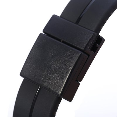 Фотография LED Watch Date Red Digital Rectangle Dial Rubber Band
