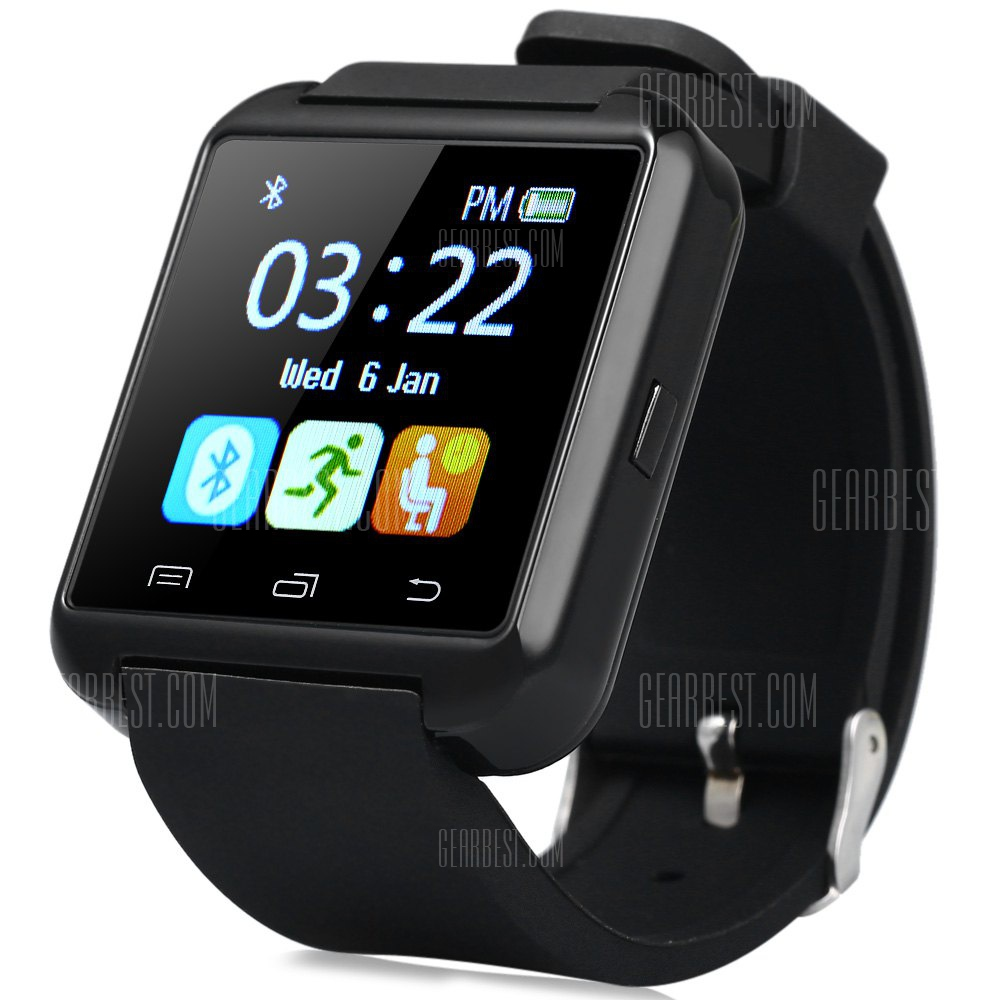 rosegal u8 smartwatch bluetooth watch passometer touch comparer les prix et promo. Black Bedroom Furniture Sets. Home Design Ideas