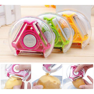 Practical 3 in 1 Fruit Vegetable PeelerKitchen &amp; Dining<br>Practical 3 in 1 Fruit Vegetable Peeler<br><br>Type: Vegetable Peeler<br>For: Kitchen, Home, etc.<br>Material: Plastic<br>Product weight: 0.065 kg<br>Package weight: 0.100 kg<br>Product size (L x W x H): 9.500 x 9.500 x 2.000 cm / 3.740 x 3.740 x 0.787 inches<br>Package size (L x W x H): 12.000 x 12.000 x 5.000 cm / 4.724 x 4.724 x 1.969 inches<br>Package Contents: 1 x Vegetable Peeler