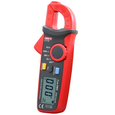 UNI-T UT210B LCD Digital Clamp Meter - UNI-TMultimeters &amp; Fitting<br>UNI-T UT210B LCD Digital Clamp Meter<br><br>Brand: UNI-T<br>Model: UT210D<br>Type: Clamp Meter<br>Certification: CE<br>Max. Display: 1999<br>AC Current: 20A / 200A<br>Input Impedance: More than 10MOhm<br>Data Hold: Yes<br>Backlit Display: Yes<br>Auto power off: Yes<br>Operation Method: Auto Range,Manual Range<br>Powered by: 2 x AAA Battery<br>Product weight: 0.170 kg<br>Package weight: 0.300 kg<br>Product size (L x W x H): 17.500 x 6.000 x 3.350 cm / 6.890 x 2.362 x 1.319 inches<br>Package size (L x W x H): 18.600 x 7.200 x 5.900 cm / 7.323 x 2.835 x 2.323 inches<br>Package Contents: 1 x LCD Digital Clamp Meter, 1 x Strap, 1 x Chinese Manual
