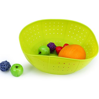 Multifunctional Silicone Draining Basket Rice and Vegetables Washing Dish Cover Kitchen Ware