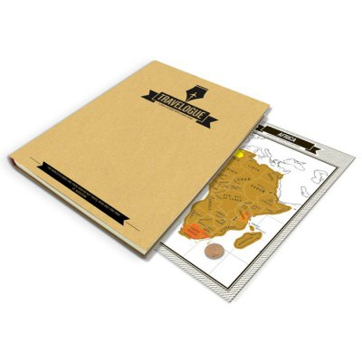 Diary Book for Trip Recording 64 Page + 8Pcs Mini Map Novelty