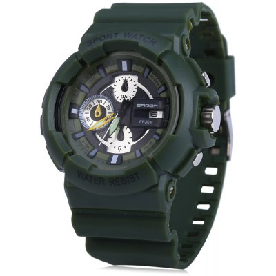 Sanda 357 Water Resistant Male Quartz Watch with Date Function