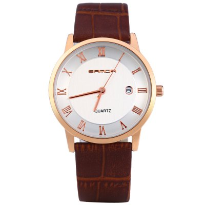 Sanda P188G Date Display Quartz Watch for MenMens Watches<br>Sanda P188G Date Display Quartz Watch for Men<br><br>Brand: Sanda<br>Watches categories: Male table<br>Watch style: Fashion<br>Available color: Brown and Gold,Brown and White,Black,White<br>Movement type: Quartz watch<br>Shape of the dial: Round<br>Display type: Analog<br>Case material: Stainless Steel<br>Band material: Leather<br>Clasp type: Pin buckle<br>Special features: Date<br>The dial thickness: 0.5 cm / 0.20 inches<br>The dial diameter: 3.8 cm / 1.50 inches<br>The band width: 2.0 cm / 0.79 inches<br>Wearable length: 16.5 - 21 cm / 6.5 - 8.27 inches<br>Product weight: 0.029 kg<br>Package weight: 0.059 kg<br>Product size (L x W x H): 24.000 x 3.800 x 0.500 cm / 9.449 x 1.496 x 0.197 inches<br>Package size (L x W x H): 25.000 x 4.800 x 1.500 cm / 9.843 x 1.890 x 0.591 inches<br>Package Contents: 1 x Sanda P188G Watch
