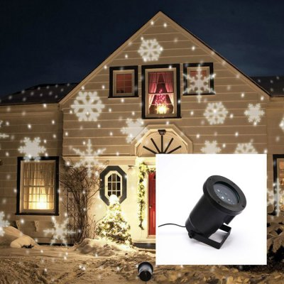 LED Snowflake Projector Light